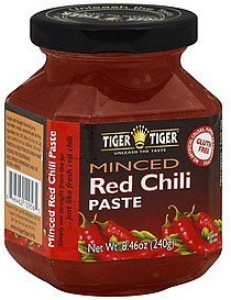 chili paste red, minced Tiger Tiger Nutrition info