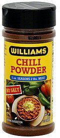 chili powder no salt Williams Nutrition info