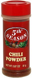 chili powder 5th Season Nutrition info