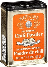 chili powder Watkins Nutrition info