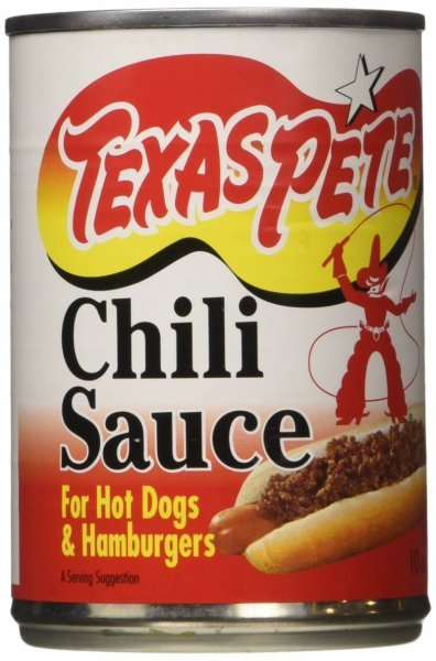 chili sauce for hot dogs Texas Pete Nutrition info