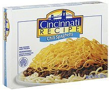 chili spaghetti Cincinnati Recipe Nutrition info