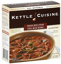 chili with beans, angus beef steak Kettle Cuisine Nutrition info