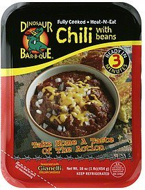 chili with beans seasoned with gianelli italian sausage Dinosaur Bar-B-Que Nutrition info