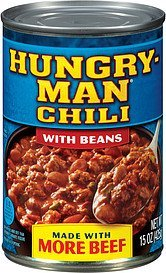 chili with beans Hungry-Man Nutrition info