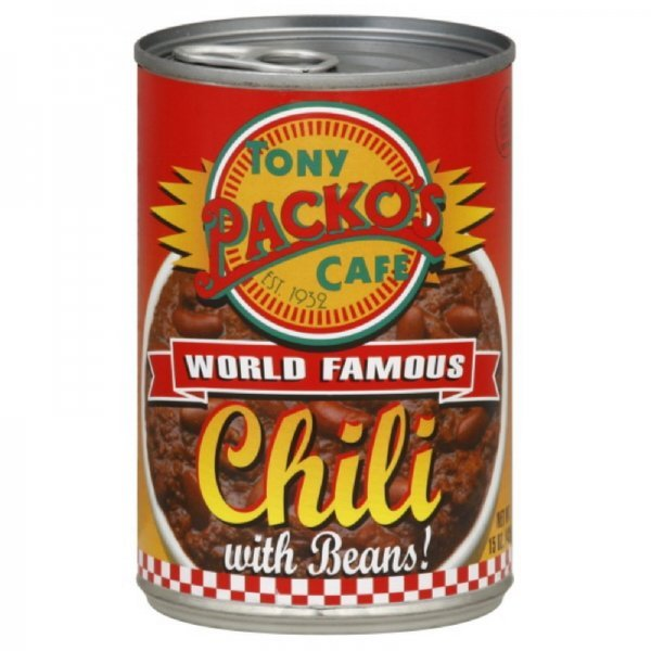chili with beans Tony Packos Nutrition info