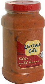 chili with beans Carryout Cafe Nutrition info