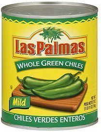 chilies mild, whole green Las Palmas Nutrition info