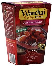 chinese dinner kit sweet & sour chicken Wanchai Ferry Nutrition info