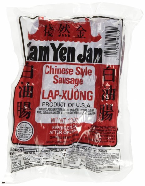 chinese style sausage Kam Yen Jan Nutrition info
