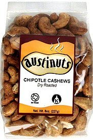 chipotle cashews dry roasted AustiNuts Nutrition info