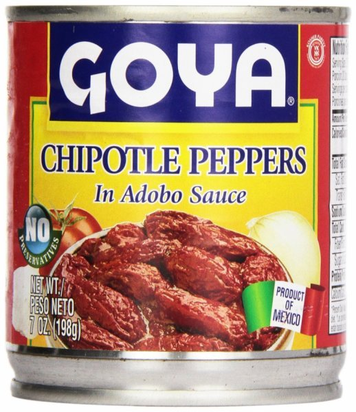 chipotle peppers in adobo sauce Goya Nutrition info