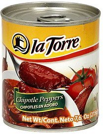chipotle peppers La Torre Nutrition info