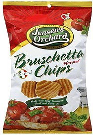 chips bruschetta, flavored Jensens Orchard Nutrition info