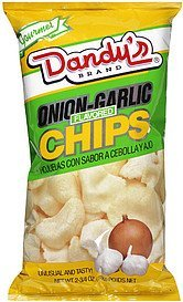 chips onion-garlic flavored Dandys Nutrition info