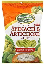 chips spinach & artichoke Jensens Orchard Nutrition info