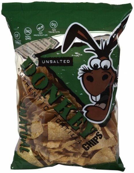 chips unsalted tortilla Donkey Chips Nutrition info
