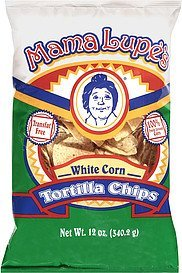 chips white corn tortilla Mama Lupe's Nutrition info