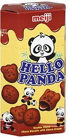 choco biscuits with choco cream double choco, hello panda Meiji Nutrition info
