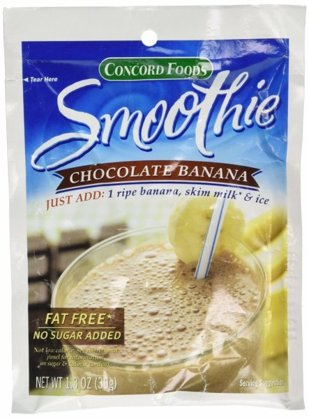 chocolate banana smoothie Concord Foods Nutrition info