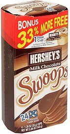 chocolate candy hershey's milk chocolate Swoops Nutrition info