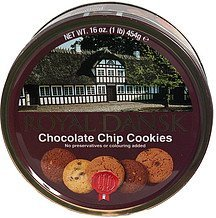 chocolate chip cookies Royal Dansk Nutrition info