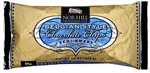 chocolate chips belgian style, semi-sweet Nob Hill Trading Co. Nutrition info