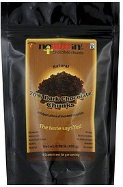 chocolate chunks 70% dark, natural Nonuttin' Nutrition info