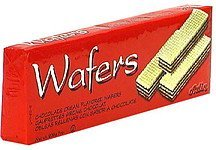 chocolate cream wafers Adin Nutrition info
