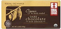 chocolate dark, with almonds Equal Exchange Nutrition info