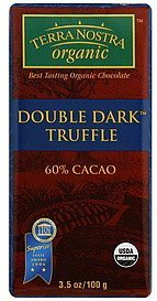 chocolate double dark truffle, 60% cacao Terra Nostra Nutrition info