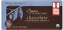 chocolate espresso bean Equal Exchange Nutrition info