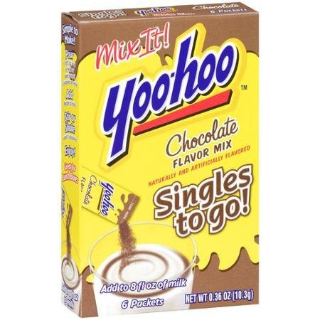 chocolate flavor mix singles to go Yoo Hoo Nutrition info