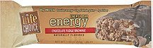 chocolate fudge brownie energy bar Life Choice Nutrition info