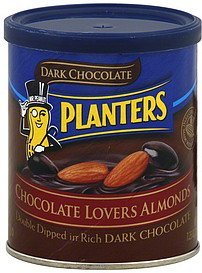 chocolate lovers almonds dark chocolate Planters Nutrition info
