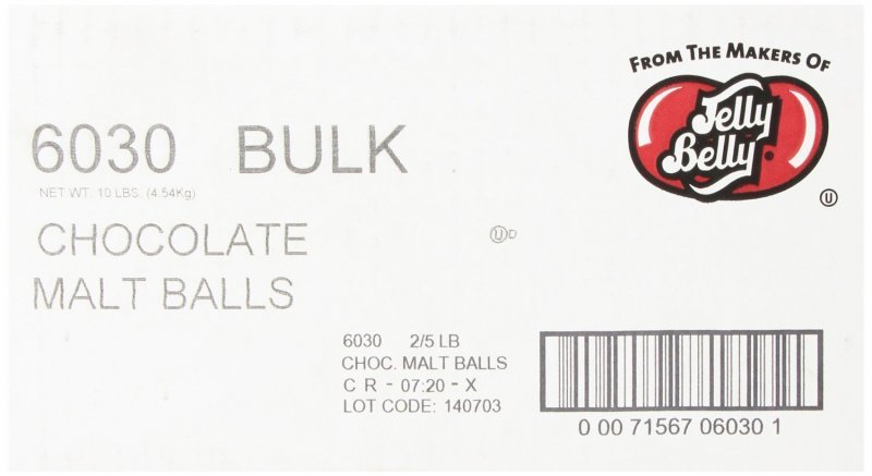 chocolate malt balls Jelly Belly Nutrition info