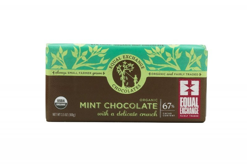 chocolate organic mint Equal Exchange Nutrition info