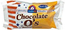 chocolate o's sandwich cookies, snack size Glutano Nutrition info