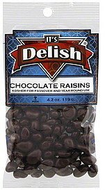 chocolate raisins Its Delish Nutrition info