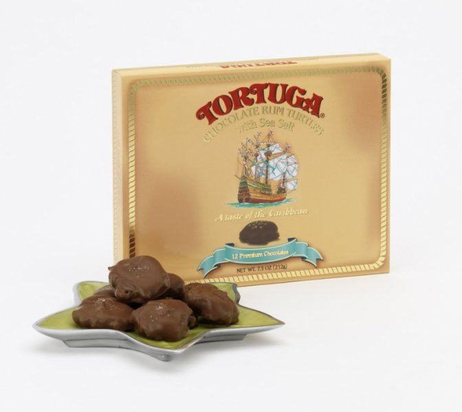 chocolate rum turtles with  sea salt Tortuga Nutrition info