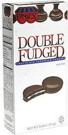 chocolate sandwich cookies, double fudge Paskesz Nutrition info