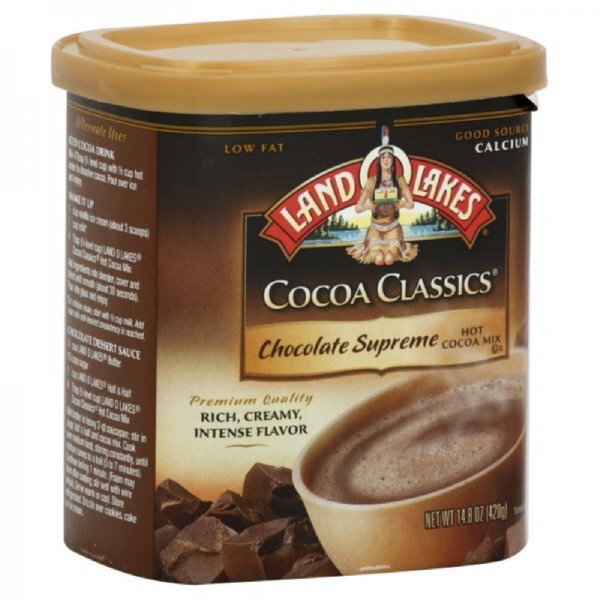 chocolate supreme hot cocoa mix Land O Lakes Nutrition info