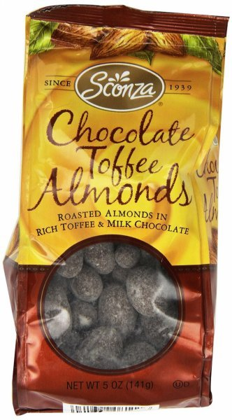 chocolate toffee almonds Sconza Nutrition info