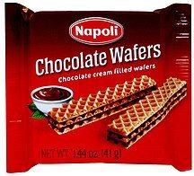 chocolate wafers Napoli Nutrition info