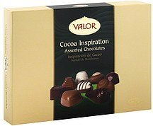 chocolates assorted, cocoa inspiration Valor Chocolates Nutrition info