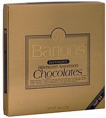 chocolates bartonettes, bittersweet assortment Bartons Nutrition info