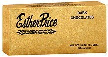 chocolates dark Esther Price Nutrition info