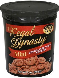chocolatey chip cookies mini Regal Dynasty Nutrition info