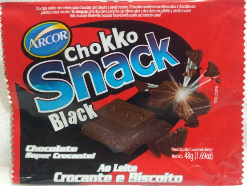 chokko snack black Arcor Nutrition info
