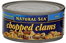 chopped clams Natural Sea Nutrition info